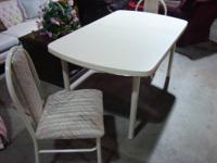 "TABLE: 58"" long x 36"" wide  Comes with a matching leaf"