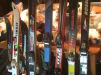 Adult and kids downhill skis $50 each pair reasonable
