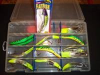 Dozen M2 Flatfish difficult baits by Worden's. Never