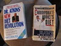 2 paperback books ~ used ~ Dr. Atkins' New Diet