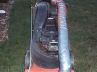 Self propelled DR leaf vac, about two years old, great