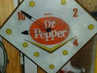 I have an old Dr Pepper Clock made by the Pam Clock Co