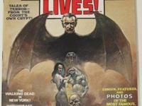 DRACULA LIVES! # 1 (1973) Black and White Magazine