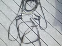 Black Rhinegold draft size bridle- $100 Pelham Mullen