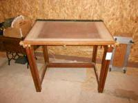 Drafting table with Mayline and clear Borco.