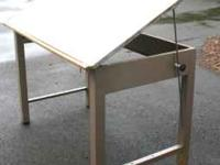 STEEL DRAFTING or CRAFT TABLE PRIVATE PARTY NOT A