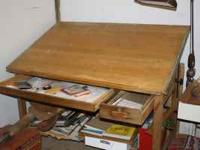 Large Drafting Table.  Location: Halfway