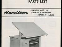 Heavy Duty Hamilton industrial motorized drafting table