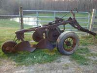 Drag Plow , 12 inch, cylinder type, worn but still plow