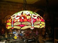 "beautiful dragonfly chandelier 22"" in diameter"