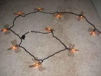 9 strands of 10' sections of lights - each still in the