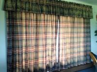 4 sets of high quality heavy drapes. One set fits a