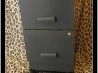 Two Drawer Metal File Cabinet $50.00 *w/ heavy duty
