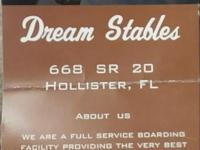Dream Stables is a horse boarding facility, we also