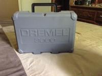 Corded dremel with case and accessories, barely used
