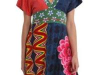 gown CORAZON Dress mixture of bright colors a little