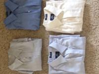 Various colors, greys, blues, and whites. Sizes 16