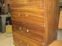4 drawer, older dresser, drawers good, but has some