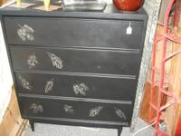 Well made, heavy, 4 drawer dresser has been given a