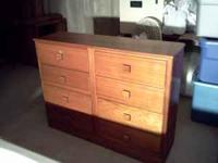 This is a nice dresser that has six drawers. I am