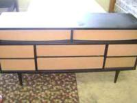 Dresser black and peanut butter color. Vintage look.