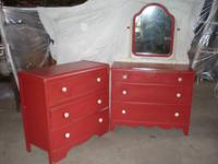 For sale Vintage Chest of drawers and matching dresser