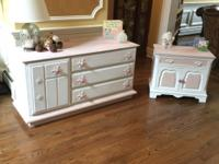 Dresser and Night Stand.    Perfect for your little