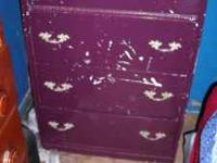 4 drawer dresser needs repainting $30.00 Heavy end