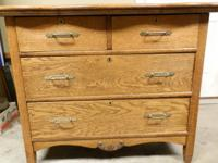 Antique Tiger Oak dresser from early 1900's. Has