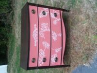 This gem has been painted in dusty coral chalk paint