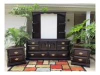 large Dresser and large mirror with shelves. Two (2)