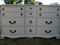 DRESSER SHABBY CHIC/FRENCH PROVINCIAL STYLE 9 DRAWER