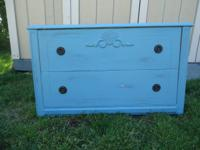 Antique, worn-out chic 2 drawer dresser, side table,