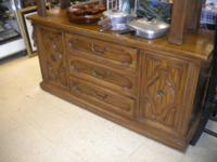 DRESSER 3DRAWS 2 DOORS $150 , SOFA TABLE $ 55 ,COFFEE