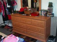 NICE DRESSER WITH MIRROR MOVING MUST GO ASAP ASKING