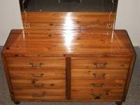 Beautiful dresser with mirror. Built by Ramseur