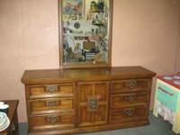 Large 9 drawer dresser with mirror, a great deal for