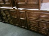 Solid wood dresser with mirror in great condition.