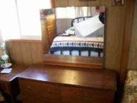 "DRESSER WITH MIRROR 6 DRAWERS 36"" TALL 16"" DEEP 42"""