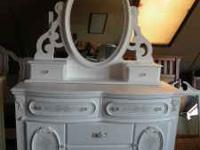 Exquisite new dressers, both white with romantic