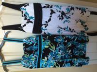 Kids dresses white/black dress size 16 and black/blue