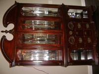 Drexel 2 piece lighted china cabinet with strong cherry