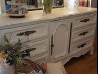 Beautiful repurposed Drexel Heritage dresser and mirror