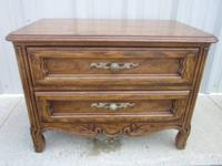DREXEL SOLID WOOD 2 DRAWER NIGHT STAND -END TABLE -