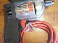 "HERE IS A VINTAGE BLACK & DECKER 1/4"" VARIABLE SPEED"