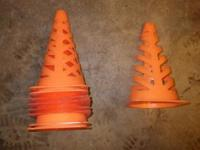 "This is a set of 9 security cones. They are 9"" in"