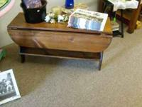 "Country table w/shelf. 36"" long. Stop in to see @ ~"