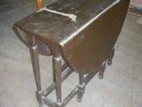 Old fashioned vintage oval drop leaf kitchen area or