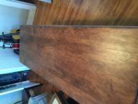 This is an old drop leaf dining table; I think it is