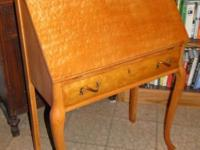 Striking Birdseye Maple antique desk. Great condition
